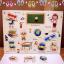 จิ๊กซอว์ไม้หมุด ชุดในห้องเรียนและคำศัพท์ มีพื้นหลัง ขนาด 30x20 เซนติเมตร thumbnail 3