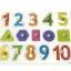 จิ๊กซอว์หมุดไม้ชุดตัวเลข 1 - 10 และรูปทรง มีพื้นหลัง ขนาด 30x20 เซนติเมตร thumbnail 1