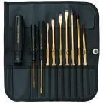 ไขควงชุด PB Swiss Tools ชุบทองคำแท้ 23.6 กะรัต รุ่น PB 7215 G ปากแบน พร้อมซองหนัง (10 ตัว/ชุด)