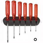 ชุดไขควง PB Swiss Tools รุ่น PB 440 หัวท๊อกซ์ หรือหัวดาว 6 แฉก ด้าม Classic พร้อมที่ติดผนัง (6 ตัว/ชุด)