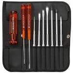 ไขควงชุด PB Swiss Tools รุ่น PB 215l รุ่นยอดนิยม Best Seller ตลอดกาล พร้อมซองหนังอย่างดี (10 ตัว/ชุด)