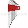 หกเหลี่ยมชุด PB Swiss Tools หัวดาว TORX ยาว/มีรู รุ่น PB 411.BH 6-25 (8 ตัว/ชุด)