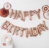 """ลูกโป่งฟอยล์ HAPPY BIRTHDAY 14"""" (สี Rose Gold)"""