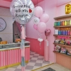 Pink & Grey Balloon Set for Hen Night
