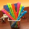 ปากกาหัวตุ๊กตาไล่ฝนสีใส(เจลน้ำเงิน)ปากกาลบได้ 108 บาท/โหล 12ชิ้น/โหล