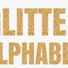 A-Z, 0-9 Gold Glitter Letter Banner ป้ายธงตัวอักษรสีทองกลิตเตอร์