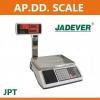 ตาชั่งคำนวณราคา30กิโลกรัม เครื่องชั่งแสดงคำนวณราคา30000g ตาชั่ง30กิโล เครื่องชั่งน้ำหนักชั่ง30kg ความละเอียด0.005kg หน้าจอแสดงผลLED 3หน้าจอ ยี่ห้อ JADEVER รุ่น JPT-30K พร้อม Build In Printer