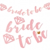 BRIDE TO BE Handwriting Glitter Flag (Pink)