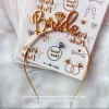 BRIDE Metal Headband (Gold)