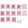 HAPPY BIRTHDAY Flag (Pink)