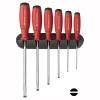 ชุดไขควง PB Swiss Tools รุ่น PB 8240 ด้ามยาง ปากแบน พร้อมที่ติดผนัง (6 ตัว/ชุด)
