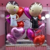 BRIDE & GROOM Foil Balloon Bouquets