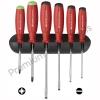 ชุดไขควง PB Swiss Tools รุ่น PB 8245 ด้ามยางกันไฟ ปากแบนและปาก PZ พร้อมที่ติดผนัง (6 ตัว/ชุด)