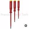ชุดไขควง PB Swiss Tools รุ่น PB 5544 ด้ามแดงกันไฟ ปากแฉก (3 ตัว/ชุด)