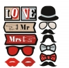 MR. & MRS. Photo Booth Props