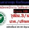 สำนักงานสาธารณสุขจังหวัดนครสวรรค์ เปิดสอบพนักงานกระทรวงสาธารณสุข จำนวน 109 อัตรา ตั้งแต่วันที่ 26-30 มิถุนายน 2560