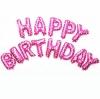 ลูกโป่งฟอยล์ตัวอักษร HAPPY BIRTHDAY (สีชมพู)