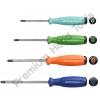 ไขควงไฟฟ้า PB Swiss Tools รุ่น PB 8190 RB สีรุ้ง ปากแฉก ด้ามยางกันไฟ กันลื่น เบอร์ 0 ถึง 3