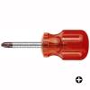 ไขควง PB Swiss Tools รุ่น PB 195 ปากแฉก เบอร์ 0,1,2 และ 3 ด้าม Classic Stubby