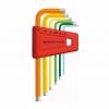 หกเหลี่ยมชุด PB Swiss Tools หัวตัด สั้น รุ่น PB 210 H-5 RB Multicolor (6 ตัว/ชุด)