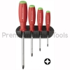 ชุดไขควง PB Swiss Tools รุ่น PB 8243 ปาก PZ ด้ามยาง พร้อมที่แขวนผนัง (4 ตัว/ชุด)