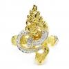 แหวนผู้ชายพญานาคชุบทองและทองคำขาว