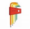 หกเหลี่ยมชุด PB Swiss Tools หัวบอล สั้น รุ่น PB 212 H-5 RB สีรุ้ง ขนาด 1.5-5 MM. (6 ตัว/ชุด)