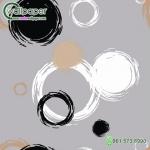 วอลเปเปอร์ลายภาพวาดวงกลมดำขาว