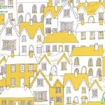 วอลเปเปอร์ลายการ์ตูนพรีออร์เดอร์หมู่บ้านสีเขียว