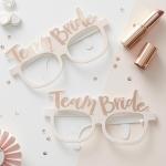 แว่นตากระดาษ Team Bride / Bride to be เคลือบฟอยล์สี Rose Gold