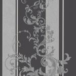Wallpaper หลุยส์ลายทางใบไม้สีดำ