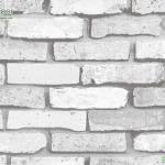 wallpaper ลายอิฐขาวปนเทา