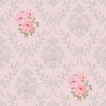 วอลเปเปอร์ติดผนัง หลุยส์ดอกไม้ใบไม้ชมพู