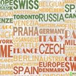 วอลเปเปอร์ลายตัวอักษร ชื่อประเทศเมืองหลวง
