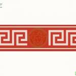 versace wallpaper บอร์เดอร์ลาย ขาวแดง