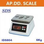 ตาชั่งดิจิตอล เครื่องชั่งกันน้ำ ตาชั่งกันน้ำ รุ่น IDS804-6Kg ค่าละเอียด 0.2 กรัม ยี่ห้อ SDS ไต้หวัน ราคาถูก คุณภาพดี