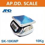 ตาชั่งดิจิตอล เครื่องชั่งดิจิตอล เครื่องชั่งกันน้ำ 10kg ความละเอียด5g AND HL-WP-10 ขนาดจานชั่ง 23.2x19.2cm.