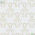 Wallpaper ลายหลุยส์ใบไม้เหลืองพื้นขาว