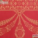 wallpaper ลายไทยห้องพระ ลายอุบะเฟื่องสีแดง