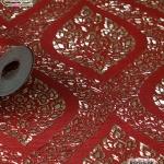 wallpaper ลายไทย ลายพุ่มข้าวบิณฑ์ สีแดง-ทอง