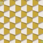 วอลเปเปอร์ติดผนัง หกเหลี่ยมขาว,เหลือง