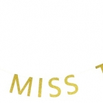 FROM MISS TO MRS Glitter Flag (Gold)