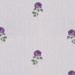 Wallpaper วินเทจดอกกุหลาบสีม่วงพื้นขาว
