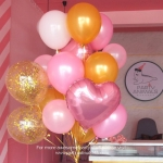Pink & Gold Giant Balloon Bouquet