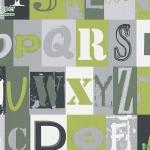 วอลเปเปอร์ลายตัวอักษร ภาษาอังกฤษสีเขียว
