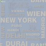 Wallpaper ลายตัวอักษรชื่อเมืองหลวงสีฟ้า