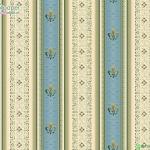 วอลเปเปอร์ลายทางหลุยส์ สีฟ้าทองอมเขียว