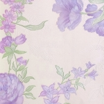 Wallpaper วินเทจดอกไม้ม่วงพื้นม่วงอ่อน