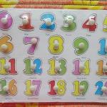 จิ๊กซอว์ไม้หมุด ตัวเลข 1-20 ขนาด 30X20 เซนติเมตร