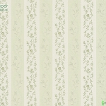 วอลเปเปอร์ลายทางดอกไม้คลาสสิค สีเขียว